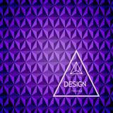 Zusammenfassungshintergrund des Dreiecks 3d Lizenzfreies Stockbild