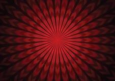 Zusammenfassungshintergrund starburst Pfeil des Vektors roter Lizenzfreies Stockfoto