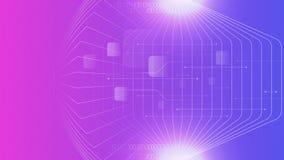 Zusammenfassungshintergrund Technologie Cyber purpurroter Farb Lizenzfreie Stockfotos