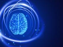 Zusammenfassungstechnologiehintergrund des menschlichen Gehirns Auch im corel abgehobenen Betrag Lizenzfreie Stockbilder