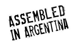 Zusammengebaut in Argentinien-Stempel Lizenzfreie Stockfotos