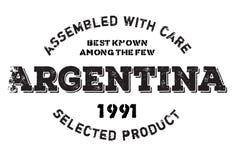 Zusammengebaut in Argentinien-Stempel Lizenzfreies Stockbild