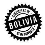 Zusammengebaut in Bolivien-Stempel Lizenzfreies Stockfoto