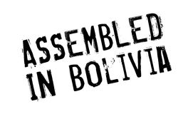 Zusammengebaut in Bolivien-Stempel Stockfoto