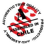 Zusammengebaut in Chile-Stempel Lizenzfreie Stockfotografie
