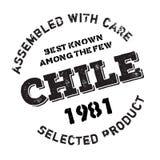 Zusammengebaut in Chile-Stempel Lizenzfreies Stockfoto