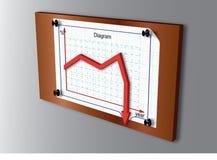 Zusammengebautes Diagramm (unten) Stockbild