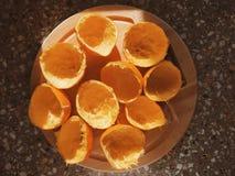 Zusammengedrückte Orangen Lizenzfreie Stockbilder