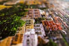 Zusammengefügt einem Puzzlespiel, einem großen Bild der Details lizenzfreie stockfotografie