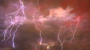 Zusammengesetzte abstrakte Abbildung des Blitzes Lizenzfreies Stockbild