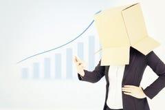 Zusammengesetztes Bild der anonymen Geschäftsfrau mit ihren Händen oben Lizenzfreies Stockfoto