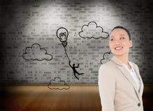 Zusammengesetztes Bild der asiatischen Geschäftsfrau Stockbild