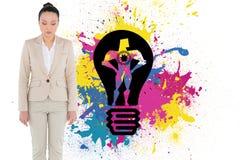 Zusammengesetztes Bild der asiatischen Geschäftsfrau Lizenzfreies Stockfoto