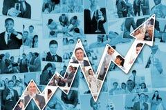 Zusammengesetztes Bild der Collage der Geschäftsmänner, die Champagner rösten und trinken Lizenzfreies Stockbild