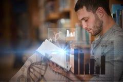 Zusammengesetztes Bild der digitalen Darstellung des Kreisdiagramms Stockfotos