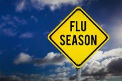 Zusammengesetztes Bild der Grippe-Saison Stockbilder
