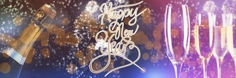 Zusammengesetztes Bild der guten Rutsch ins Neue Jahr-Mitteilung Lizenzfreies Stockbild