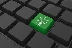 Zusammengesetztes Bild der Ideen- und Innovationsgraphik auf Schlüssel Lizenzfreies Stockfoto