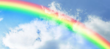 Zusammengesetztes Bild der Illustration des Regenbogens Stockbilder