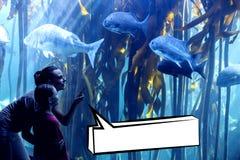 Zusammengesetztes Bild der Spracheblase Stockbild