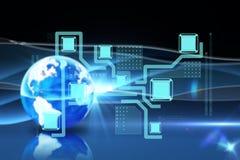 Zusammengesetztes Bild der Technologieschnittstelle Stockbilder