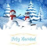 Zusammengesetztes Bild der Weihnachtsgrußkarte Stockbild