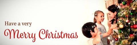 Zusammengesetztes Bild der Weihnachtskarte lizenzfreie stockfotografie