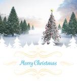 Zusammengesetztes Bild der Weihnachtskarte Stockfotografie