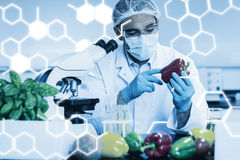 Zusammengesetztes Bild der Wissenschaftsgraphik lizenzfreies stockbild
