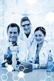 Zusammengesetztes Bild der Wissenschaftsgraphik Stockbild