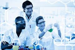 Zusammengesetztes Bild der Wissenschaftsgraphik Stockbilder