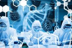 Zusammengesetztes Bild der Wissenschaftsgraphik Lizenzfreie Stockbilder