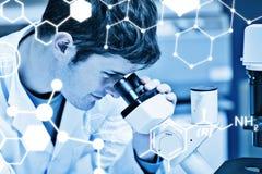 Zusammengesetztes Bild der Wissenschaftsgraphik Lizenzfreie Stockfotografie
