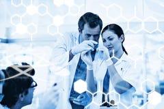 Zusammengesetztes Bild der Wissenschaftsgraphik Lizenzfreie Stockfotos