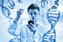 Zusammengesetztes Bild der Wissenschaftsgraphik Stockfoto