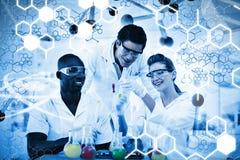 Zusammengesetztes Bild der Wissenschaftsgraphik Stockfotos