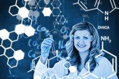 Zusammengesetztes Bild der Wissenschaftsgraphik Stockfotografie