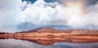 Zusammengesetztes Bild des Bildes der Wolke Stockbilder