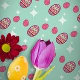 Zusammengesetztes Bild des Bildes einer Blume Stockfotos