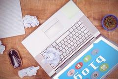Zusammengesetztes Bild des Blasenblogs und -bilder lizenzfreies stockfoto
