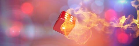 Zusammengesetztes Bild des Computergrafikbildes der Würfel 3d Lizenzfreies Stockfoto