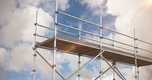 Zusammengesetztes Bild des digital erzeugten Bildes der Baugerüste Lizenzfreie Stockbilder