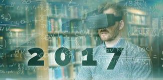 Zusammengesetztes Bild des Digitalbilds neuen Jahres 2017 Lizenzfreie Stockfotos