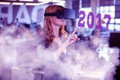 Zusammengesetztes Bild des Digitalbilds neuen Jahres 2017 Stockfotos