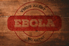 Zusammengesetztes Bild des Ebola Virus Alarmstempels Stockfoto