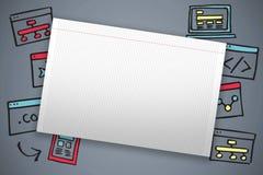 Zusammengesetztes Bild des einzelnen gezeichneten leeren Papiers Lizenzfreies Stockfoto