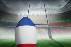 Zusammengesetztes Bild des französischen Flaggenrugbys Stockbilder