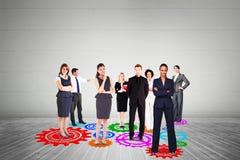 Zusammengesetztes Bild des Geschäftsteams Stockfoto