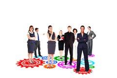 Zusammengesetztes Bild des Geschäftsteams Lizenzfreie Stockfotos