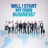 Zusammengesetztes Bild des Geschäftsteams Lizenzfreie Stockfotografie